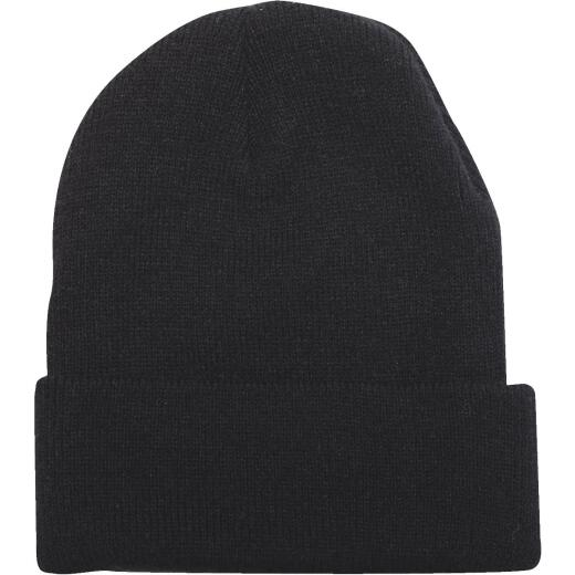Outdoor Cap Black Cuffed Sock Cap