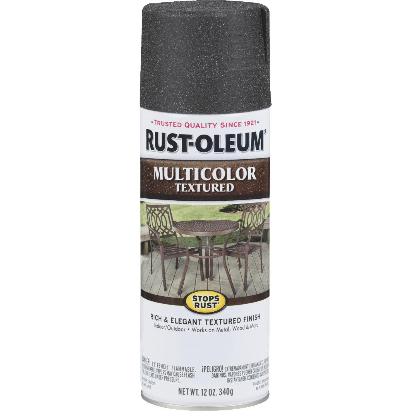 Rust-Oleum Stops Rust MultiColor 12 Oz. Textured Spray Paint, Aged Iron Image 1