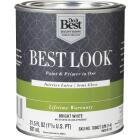 Best Look Latex Paint & Primer In One Semi-Gloss Interior Wall Paint, Bright White, 1 Qt. Image 1