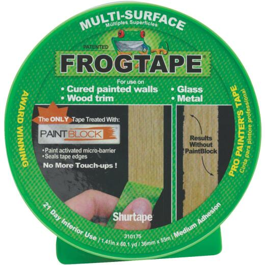 FrogTape 1.41 In. x 60 Yd. Multi-Surface Masking Tape