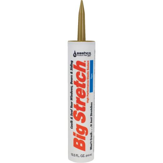 Sashco Big Stretch 10.5 Oz. Tan Acrylic Elastomeric Caulk