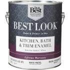 Best Look Latex Paint & Primer In One Kitchen Bath & Trim Enamel Gloss Interior Wall Paint, White-Pastel Base, 1 Gal. Image 1