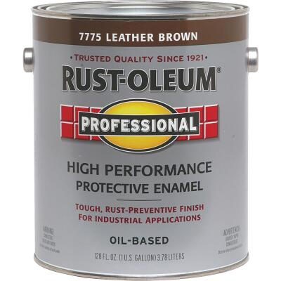 Rust-Oleum Professional Oil Based Gloss Protective Rust Control Enamel, Leather Brown, 1 Gal.