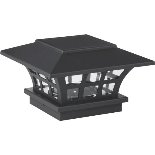 Outdoor Expressions 6 In. x 6 In. Black Solar Post Cap Set (2-Pack)