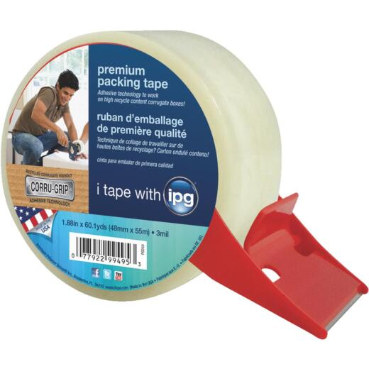 IPG 1.88 In. X 60.1 Yd. Premium Clear Packing Tape with Dispenser