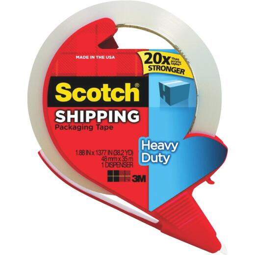 3M Scotch 1.88 In. x 38.2 Yd. Clear Packaging Tape with Refillable Dispenser