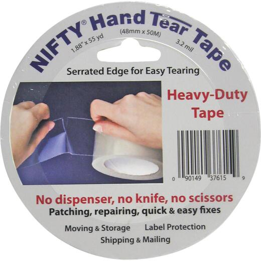 Nifty 2 In. x 55 Yd. Clear Hand Tear Sealing Tape