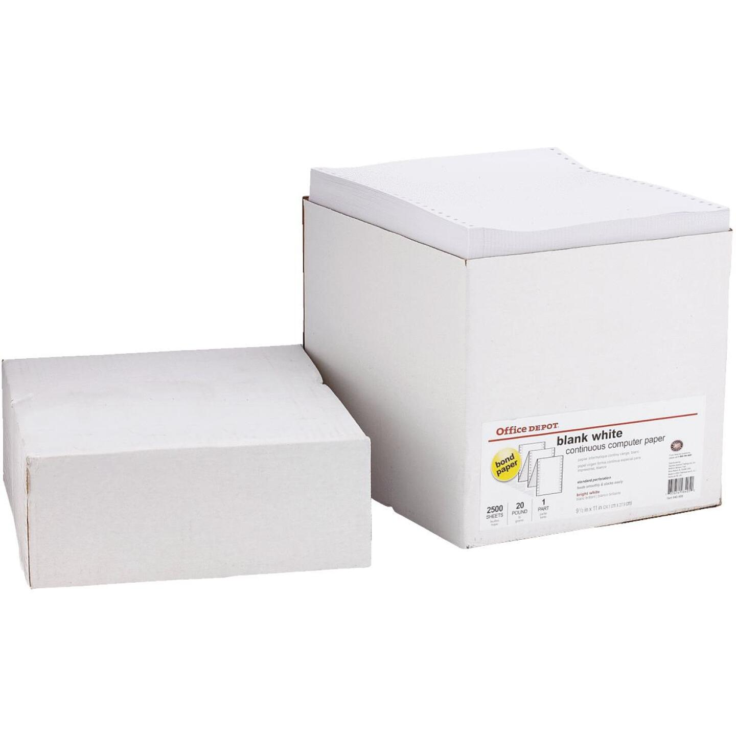 Staples 8-1/2 In. x 11 In. 20 Lb. White Blank Computer Printer Paper, 2500 Sheets Image 2